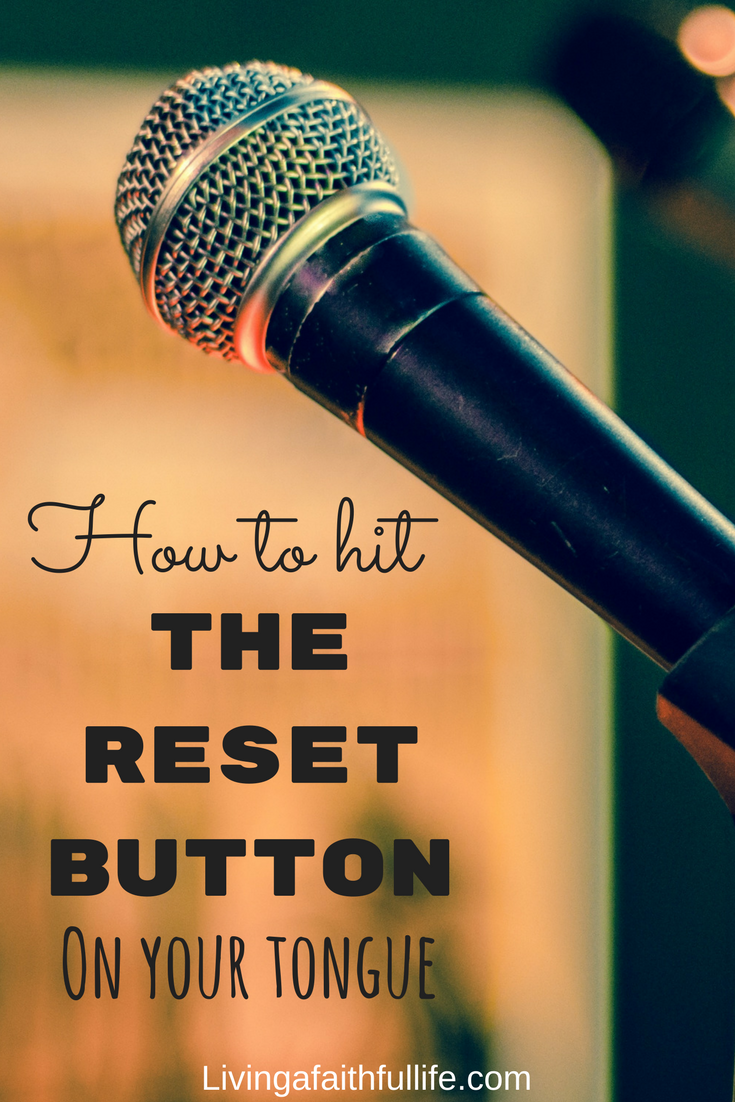 How to hit the reset button on your tongue?