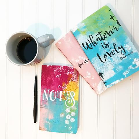 Design's by Planner Perfect's Devotional Notes Journal is a journal to keep your spiritual notes from sermons, podcasts, your favorite YouTube videos, books, and thoughts from your quiet time.